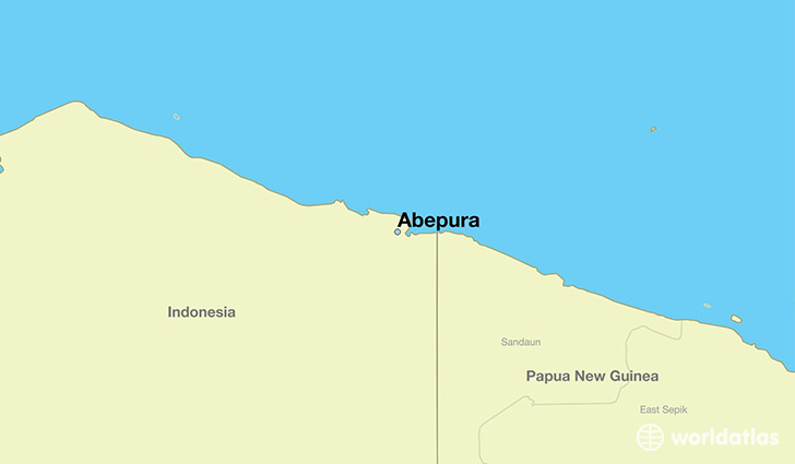 map showing the location of Abepura
