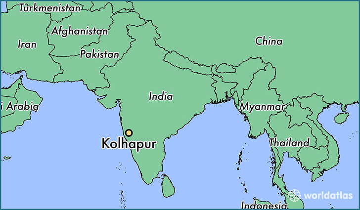 map showing the location of Kolhapur