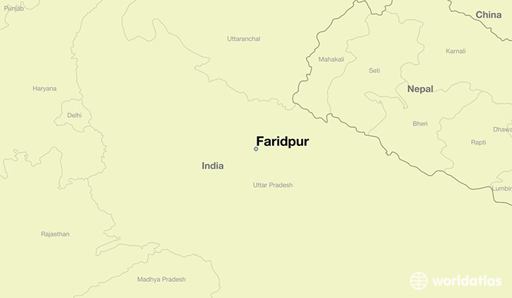map showing the location of Faridpur