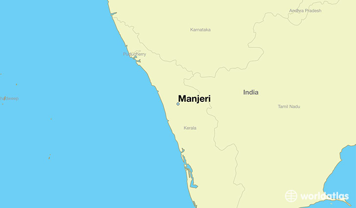 map showing the location of Manjeri