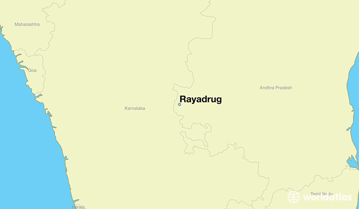 map showing the location of Rayadrug