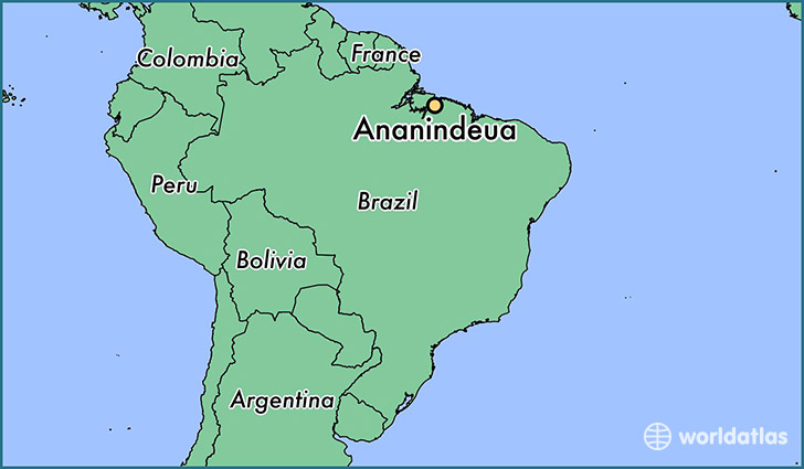 map showing the location of Ananindeua