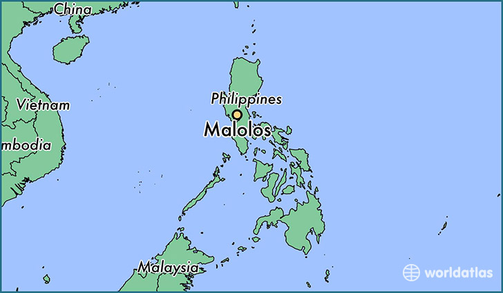 map showing the location of Malolos