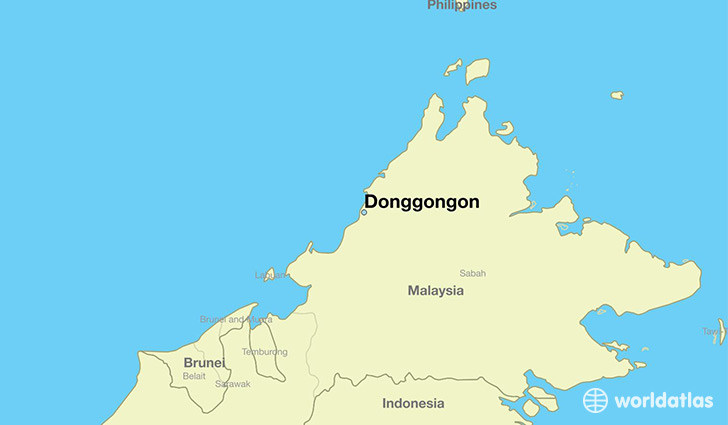 map showing the location of Donggongon