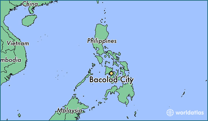 map showing the location of Bacolod City