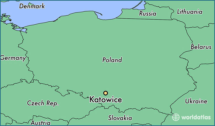 map showing the location of Katowice