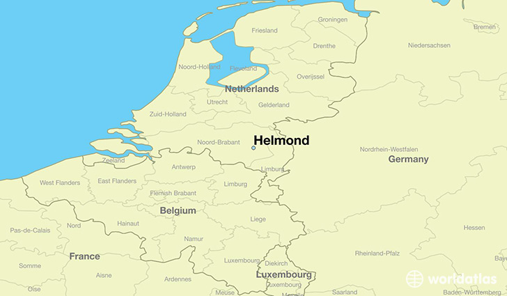 map showing the location of Helmond