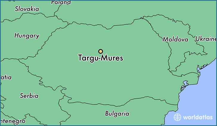 map showing the location of Targu-Mures