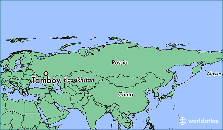 map showing the location of Tambov