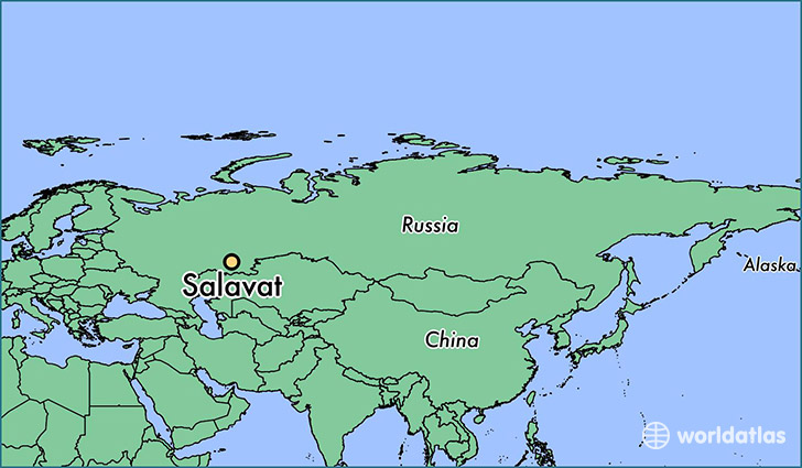 map showing the location of Salavat