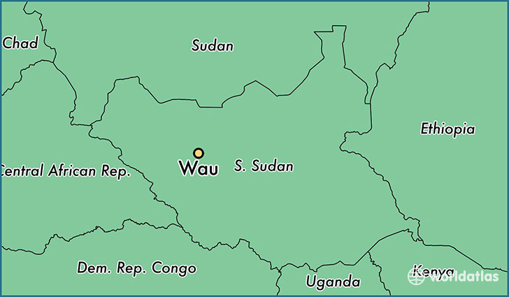 map showing the location of Wau