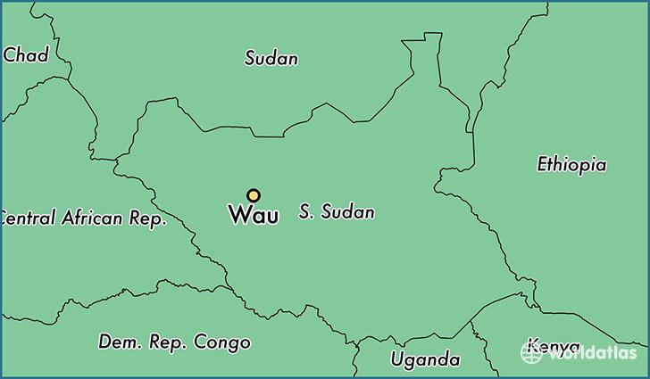 Where is wau south sudan wau western bahr al ghazal map map showing the location of wau gumiabroncs Images