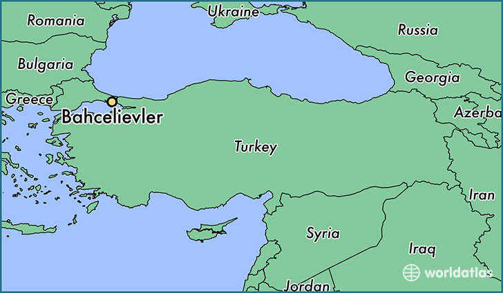 map showing the location of Bahcelievler