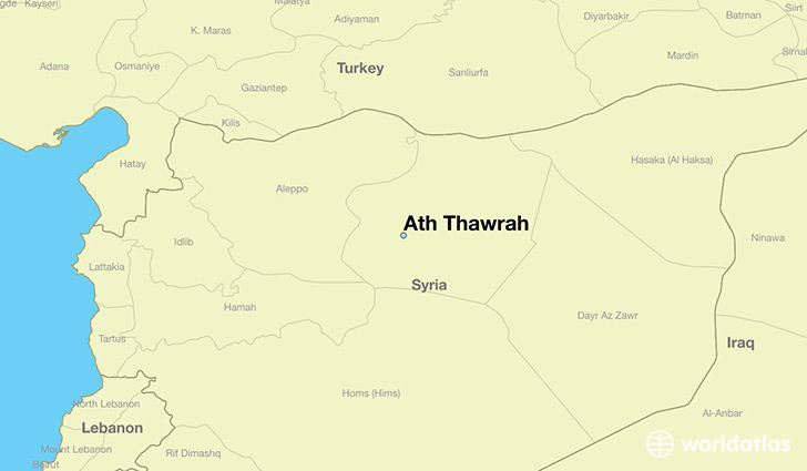 map showing the location of Ath Thawrah