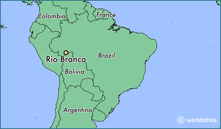map showing the location of Rio Branco