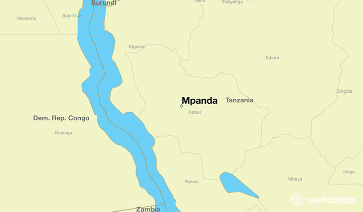 map showing the location of Mpanda
