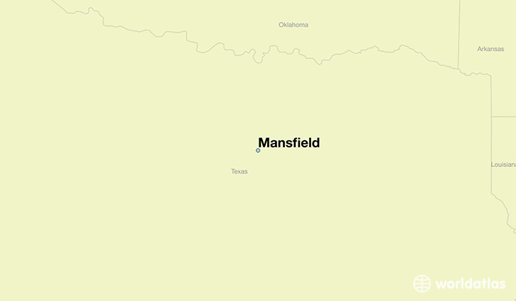 map showing the location of Mansfield