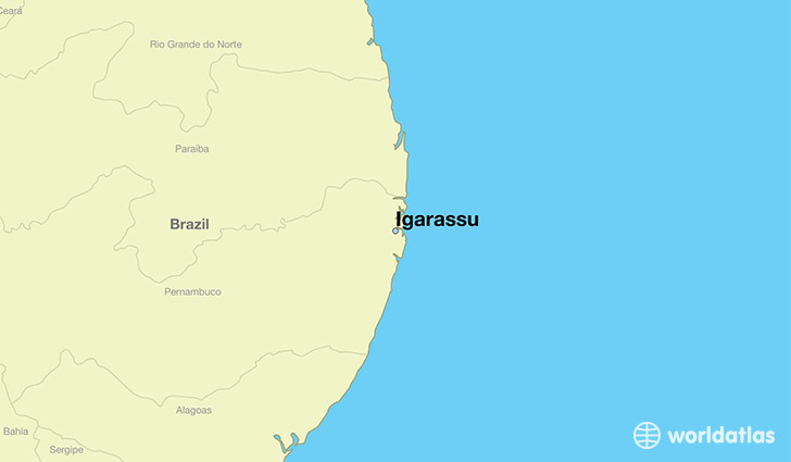 map showing the location of Igarassu