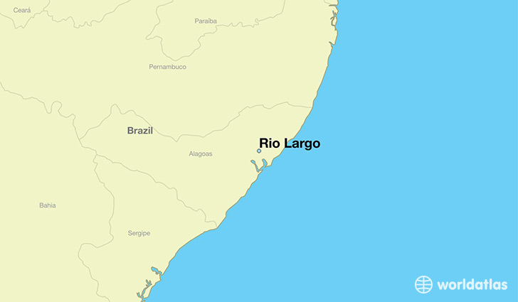 map showing the location of Rio Largo