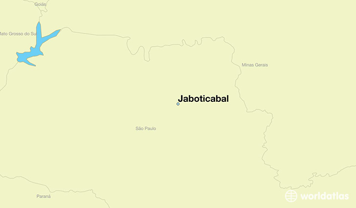map showing the location of Jaboticabal