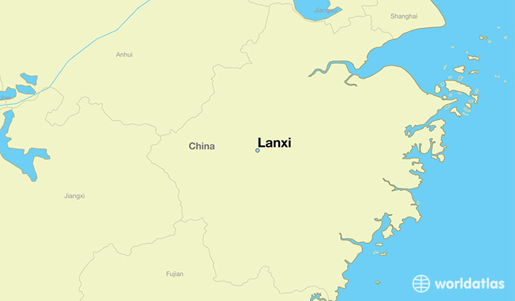 map showing the location of Lanxi