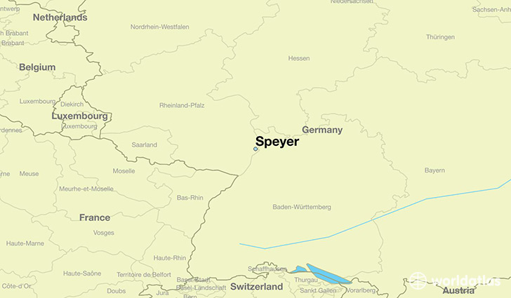 map showing the location of Speyer