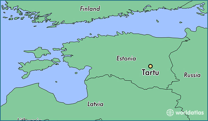 Where is Tartu Estonia Tartu Tartu Map WorldAtlascom