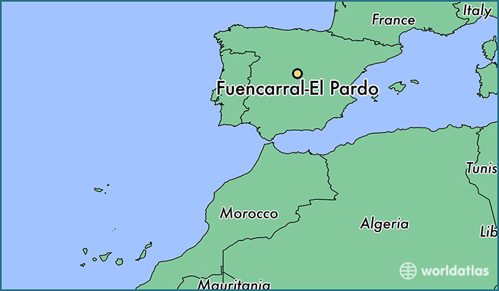 map showing the location of Fuencarral-El Pardo
