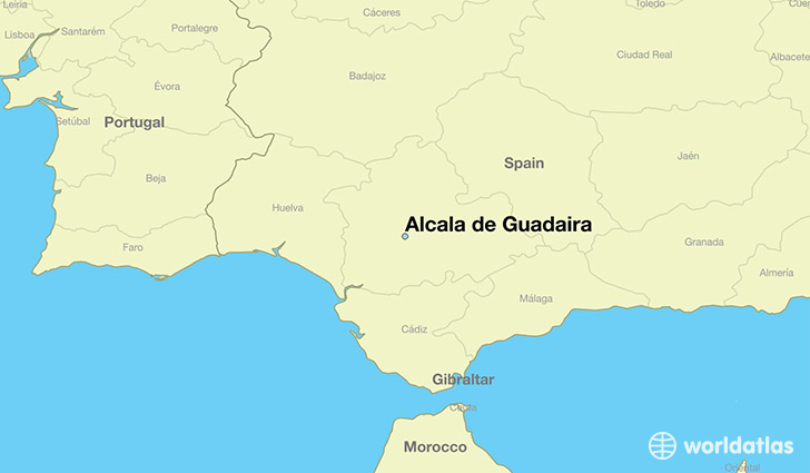 map showing the location of Alcala de Guadaira