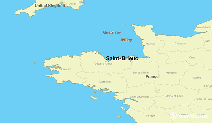 Where is saint brieuc france saint brieuc brittany map map showing the location of saint brieuc gumiabroncs Images