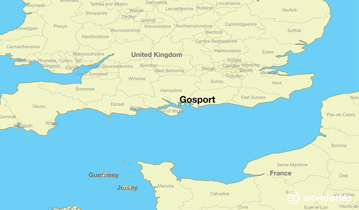 map showing the location of Gosport