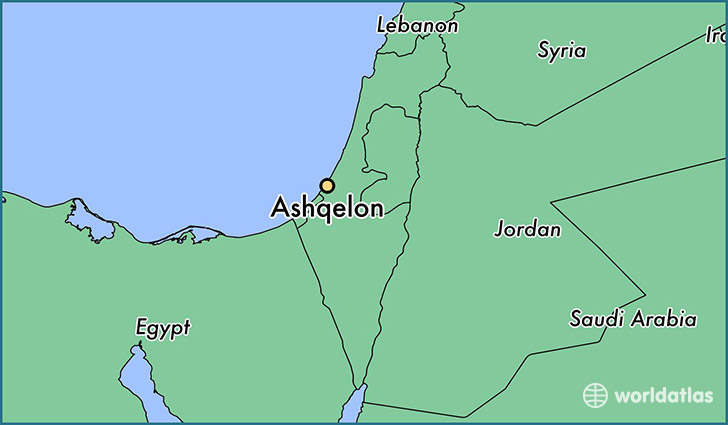 map showing the location of Ashqelon