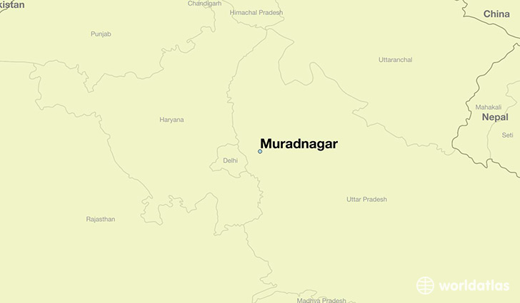 map showing the location of Muradnagar