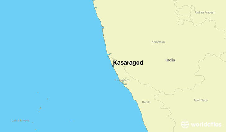 map showing the location of Kasaragod