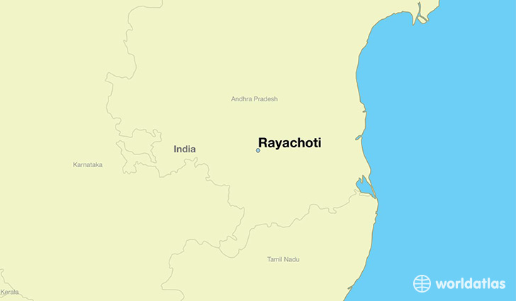 map showing the location of Rayachoti