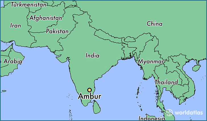 map showing the location of Ambur
