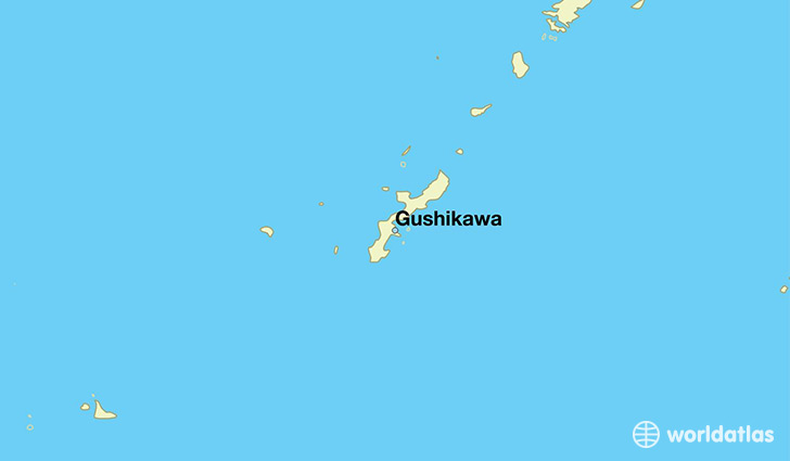 map showing the location of Gushikawa