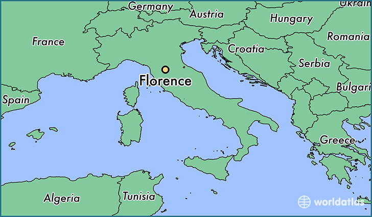 map showing the location of Florence