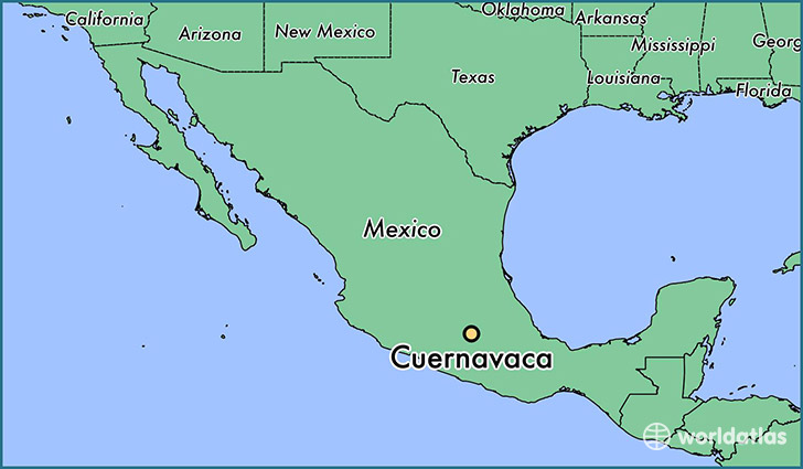 map showing the location of Cuernavaca