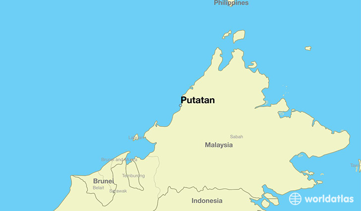map showing the location of Putatan