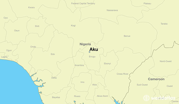 map showing the location of Aku