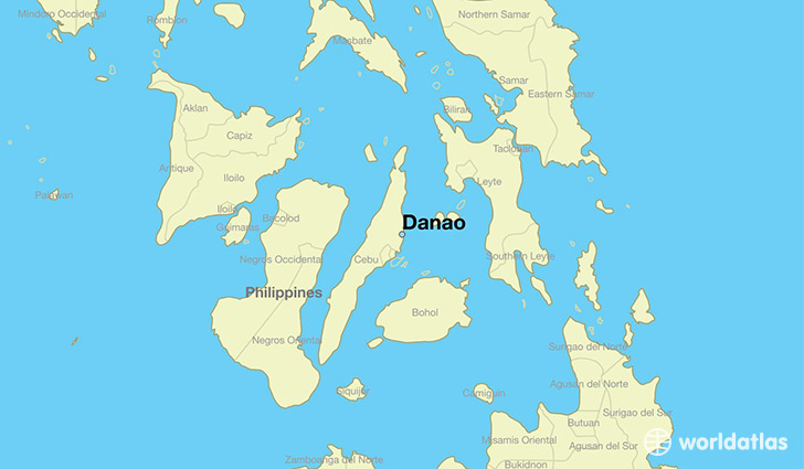map showing the location of Danao
