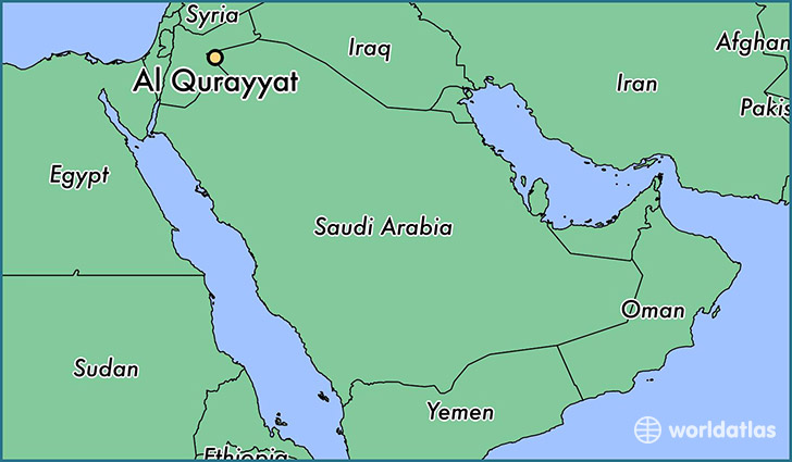 map showing the location of Al Qurayyat