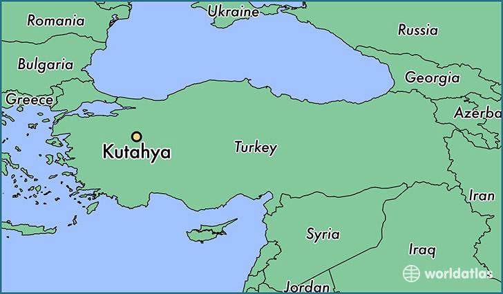 Where is Kutahya Turkey Kutahya Kuetahya Map WorldAtlascom