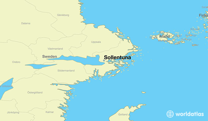 map showing the location of Sollentuna