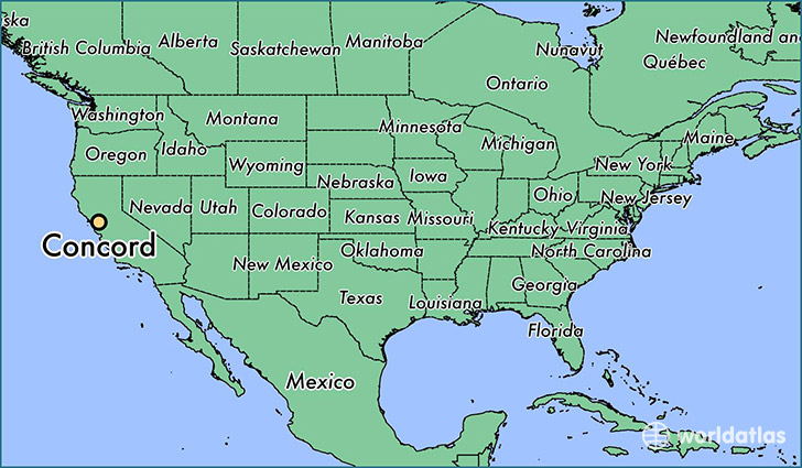 Where Is Concord CA Where Is Concord CA Located In The World - Concord usa map