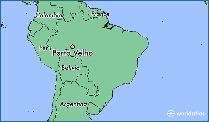 map showing the location of Porto Velho