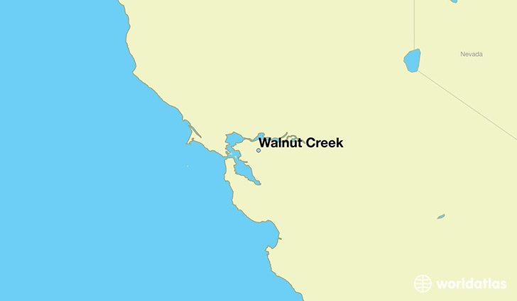 map showing the location of Walnut Creek