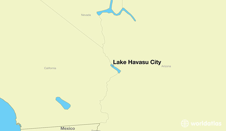 map showing the location of Lake Havasu City