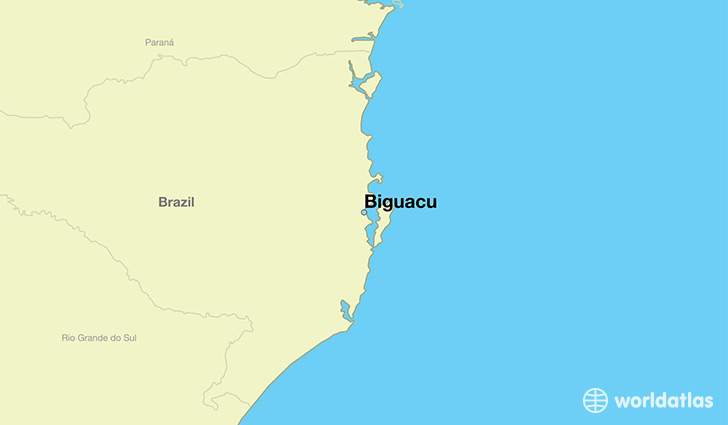 map showing the location of Biguacu
